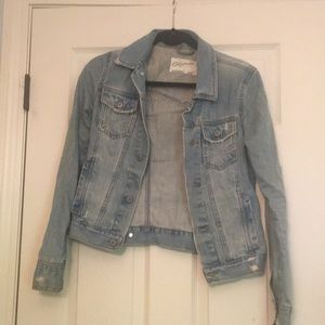 Ripped/Destroyed style jean jacket